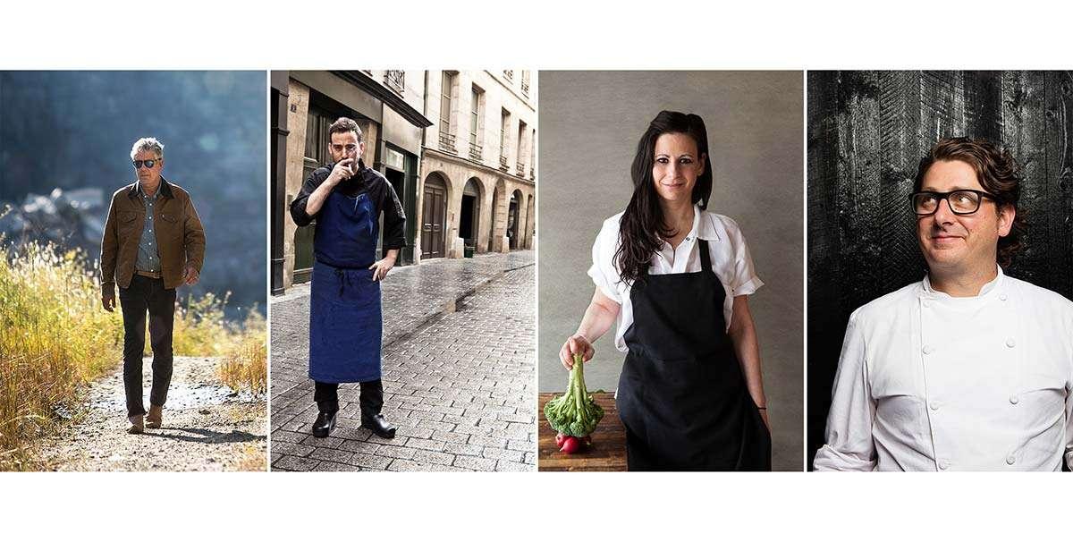 Chef Portraits of 4 different chefs from Chef Photographer Brent Herrig's portrait portfolio.