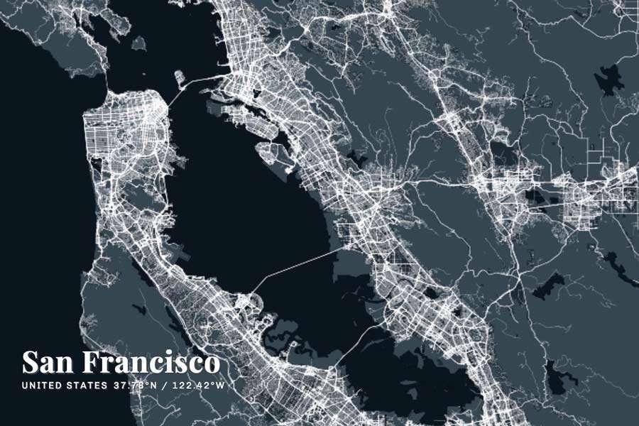 San Francisco Map Graphic